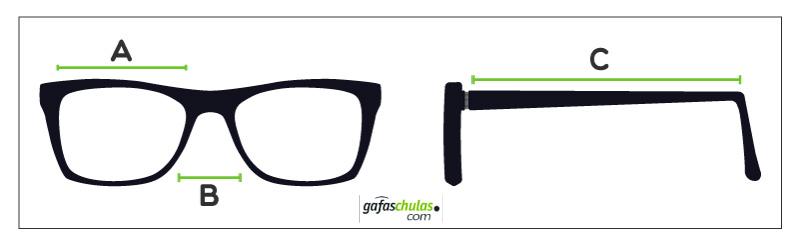 medidas de gafas ray ban aviator