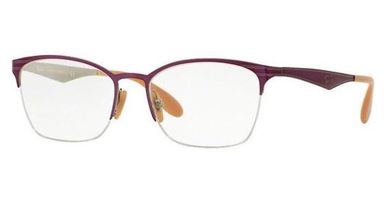 Imagen de RAY-BAN RB 6345 2864 TOP BRUSHED VIOLET ON SILVER