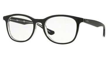 Imagen de RAY-BAN RB 5356 2034 BLACK AND TRANSPARENT