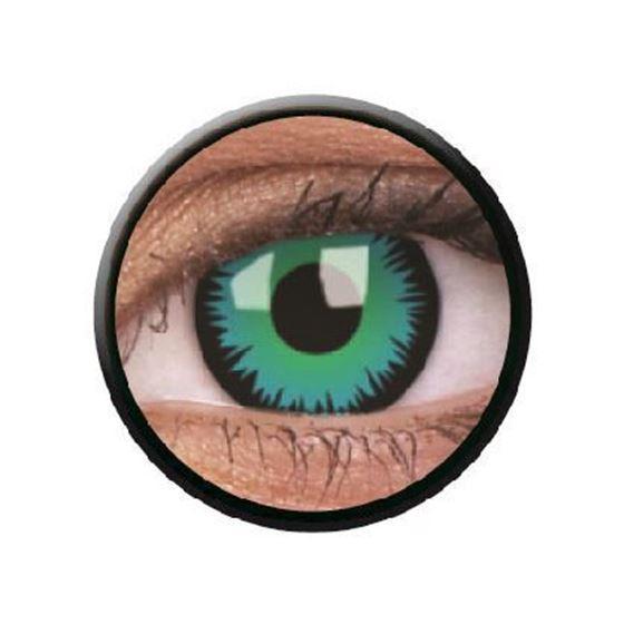 Imagen de Lentillas de colores Crazy Lens 3 Meses GREEN WEREWOLF de ColourVue