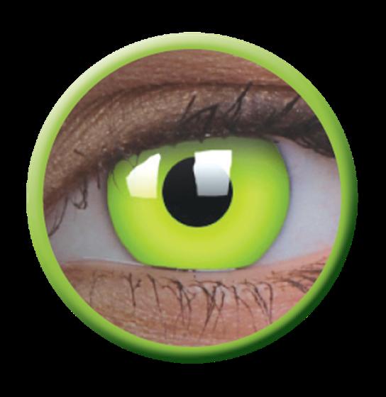 Imagen de Lentilla Glow Green Efecto Iluminación UV 6 meses + Solución Única 360 ml