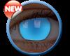 Imagen de Lentilla Glow Electric Blue Efecto Iluminación UV 6 meses + Solución Única 360 ml