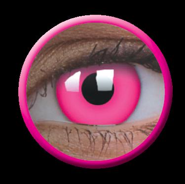 Imagen de Lentilla Glow Pink Efecto Iluminación UV 6 meses + Solución Única 360 ml