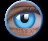 Imagen de Lentilla Glow Blue Efecto Iluminación UV 6 meses + Solución Única 360 ml