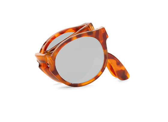 Imagen de LEO TORTOISE FOLDABLE JORDAAN WITH SILVER LENSES DE MR.BOHO