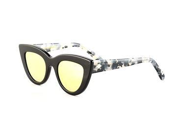 Gafas de Sol Hugo Conti 6146 con varilla jaspeada y lente de espejo polarizada