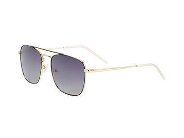 Gafas de Sol Hugo Conti 6727N en metal dorado con frontal negro y lente polarizada degradada