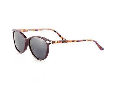 Gafas de sol polarizadas Hugo Conti 6127 con varilla jaspeada morada y frontal marrón