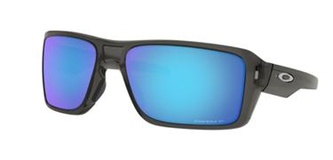 Gafas de sol Oakley Double Edge gris y lentes Prizm blue saphire polarizadas
