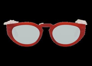 Gafas de sol Mr.Boho modelo Psiri en color marrón-rojizo con lente de espejo plata.