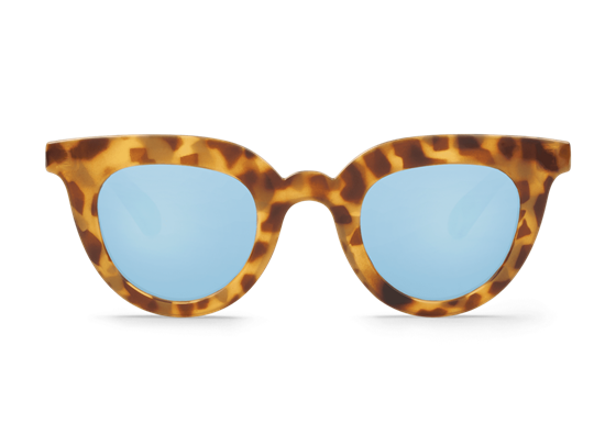 Imagen de HIGH-CONTRAST TORTOISE HAYES WITH SKY BLUE LENSES DE MR.BOHO