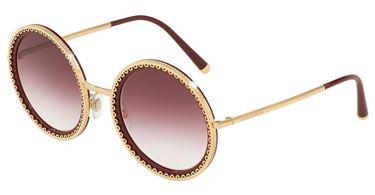 Gafas Dolce & Gabbana redondas con lente violeta degradado