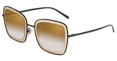 Gafas Dolce & Gabbana de metal cuadradas negras y doradas