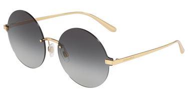 Gafa de sol Dolce&Gabbana DG2228 redonda con varilla dorada