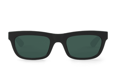 Gafa de sol Mr.Boho Primrose negra con lente clásica.