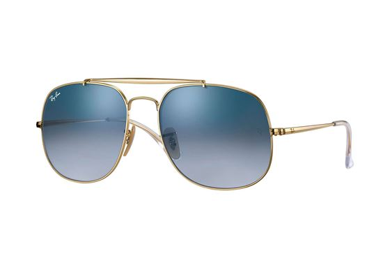 Imagen de RAY-BAN GENERAL METAL DORADO CON LENTE AZUL DEGRADADA RB3561
